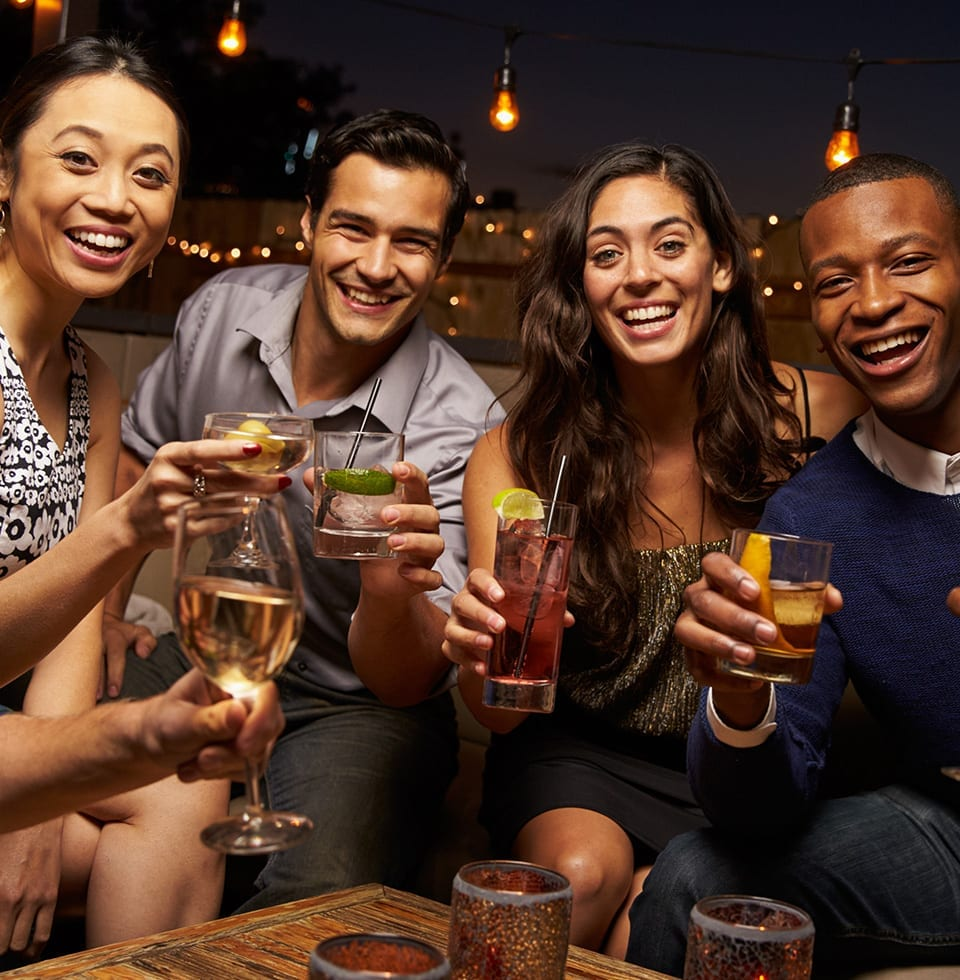 Group of people enjoying BarBox cocktails